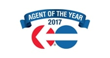 Agent of the Year 2017 certificate